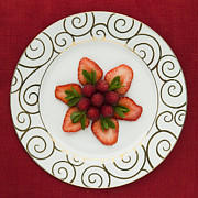 Sliced Prints - Flowering Fruits Print by Anne Gilbert