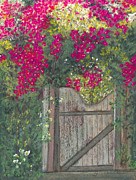 Vine Pastels - Flowering Gateway by Ginny Neece