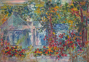 Blurred Paintings - Flowering Groto by Sharon K Wilson