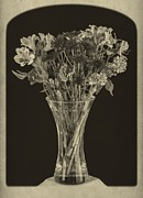French Photo Framed Prints - Flowers 1860s Framed Print by Edward Fielding