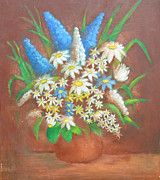 Still Life Photographs Painting Posters - Flowers 2 Poster by Mirek Bialy