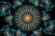 Fractal Designs Prints - Flowers 2 Print by Sandy Keeton