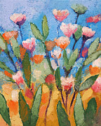 With Blue Paintings - Flowers Again by Lutz Baar