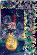 Flowers All Around Me Print by Anne-Elizabeth Whiteway
