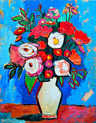 Carnation Painting Prints - Flowers And Colors Print by Ana Maria Edulescu