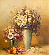 Romania Paintings - Flowers and Harmony by Petrica Sincu