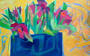Flowers And Leaves Print by Diane Fine