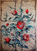 Artist Tapestries - Textiles Originals - Flowers by Armen Abel Babayan