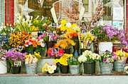 Flowers At The Bi-rite Market In San Francisco  Print by Artist and Photographer Laura Wrede
