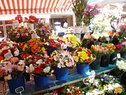 Cours Saleya Photos - Flowers at the Market by Carolyn Jones