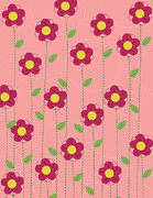 Magenta Prints - Flowers Print by Christy Beckwith