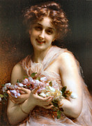 Etienne Posters - Flowers Poster by Etienne Adolphe Piot