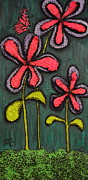 Shawn Marlow Painting Framed Prints - Flowers for Sydney Framed Print by Shawn Marlow