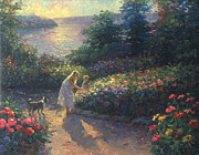 Lakeside Paintings - Flowers Galore by Ghambaro