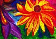 Flowers I Print by Carla Sa Fernandes