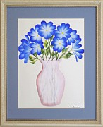 Original  By Artist Paintings - Flowers in a Vase by Ron Davidson