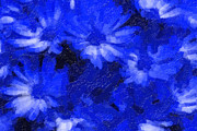 Blue Flowers Paintings - Flowers in Blue by Tilly Williams