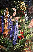 Lupine Glass Art - Flowers in My Garden - Sold by Chris Heisinger