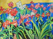Flowers In Polyphony Print by Esther Newman-Cohen