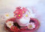 Flowers In Pot Print by Yoshiko Mishina