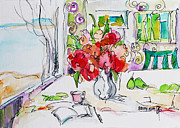 Impressionism Originals - Flowers in Reading Place by Becky Kim