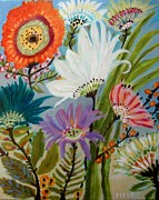 Karen Fields - Flowers in the Garden