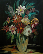 King James Prints - Flowers In The Night Print by Anna Sandhu Ray