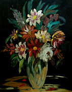King James Prints - Flowers In The Night II Print by Anna Sandhu Ray