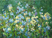 Forget Me Not Paintings - Flowers of  forget-me-not by Juliya Zhukova