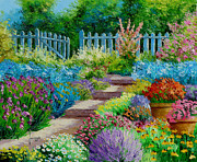 Impressionist Digital Art - Flowers of the Garden by Jean-Marc Janiaczyk