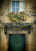 Charming Cottage Prints - Flowers Over Doorway Print by Jill Battaglia