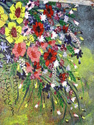 Pallet Knife Prints - Flowers Print by Shilpi Singh
