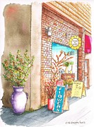 Outdoor Flower Shop Posters - Flowers Shop in Riverside - California Poster by Carlos G Groppa