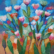 With Blue Paintings - Flowers with blue by Lutz Baar
