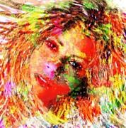 Flowery Shakira Print by Navo Art