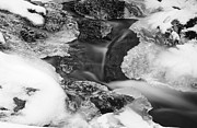 Abstract Water Fall Framed Prints - Flowing Frigid Framed Print by Luke Moore