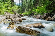 Mike Schmidt Metal Prints - Flowing River Metal Print by Mike Schmidt