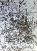 Creativity Drawings - Flowing River the Source of Wisdom 3 by David Wolk