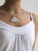 Perspex Necklace Jewelry - Flows With Hand Movement - Spiral Necklace by Rony Bank