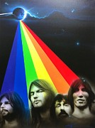 Pink Flower Prints Painting Posters - Floyd Poster by Christian Chapman Art