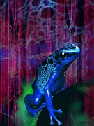 Christelle Burger - Blue Animals - Frog
