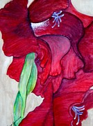 Gladiolas Paintings - Fluer Gladiola by Trisha Rigdon
