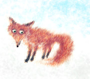 Fox Digital Art - Fluffy Fox by Maria Kucera