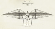 Manual Prints - Flugmaschine  1807 Print by Daniel Hagerman
