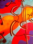 Abstract Music Pastels - Fluid Tunes by Micaela Linton