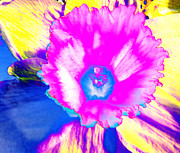 Trippy Digital Art - Fluorescent Daffodil  by Shawna  Rowe