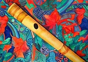 Anuradha Gupta - Flute on colorful...