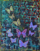 Home Decor Mixed Media - Fluttering Between Light and Shadow by Donna Blackhall