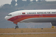 Boeing 777 Prints - Fly Angola Print by Paul Job