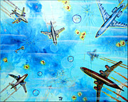 Liner Painting Originals - Fly Away by Daniel Janda